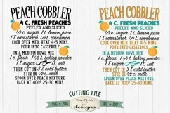 Peach Cobbler Recipe SVG | Kitchen SVG | SVG DXF Files Product Image 2