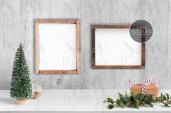 Wood Sign 8x10, Horizontal 8x10 Christmas Styled Mockup Product Image 1