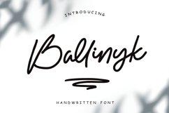 Ballinyk - Handwritten Font Product Image 1