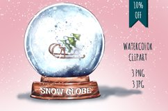 Christmas,Snow Globe,Christmas tree,Sublimation,Watercolor Product Image 1
