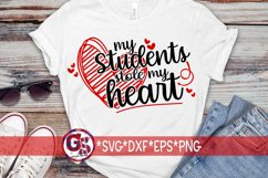 Valentine's Day   My Students Stole My Heart SVG DXF EPS PNG Product Image 1