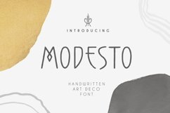 Modesto - Handwritten Art Deco Font Product Image 1