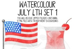 Watercolor July 4th Clip Art Set Product Image 5