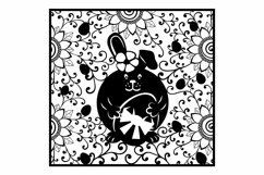Easter Eggs Card SVG Cut file for Crafters. Bunny cut Product Image 3