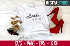 Auntie Est 2021 Svg, Auntie Svg, Family Svg, Aunt 2021 Svg Product Image 2