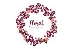 Floral frame spring design Product Image 1