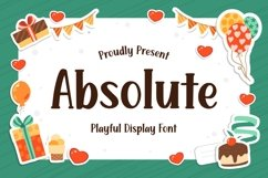 Absolute - Playful Display Font Product Image 1