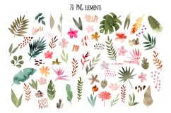 Tropical Collage. Patterns, Cliparts Product Image 3