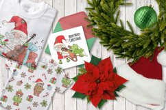 CHRISTMAS SONG New Year Santa Music Clip Art Pattern Vector Product Image 6