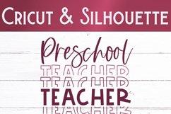 Preschool Teacher SVG | Teacher Shirt SVG Product Image 2