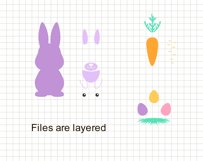 Easter Bunny Rabbit clip art Product Image 4