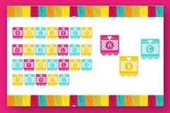 Papercut blocks font a mexican party banner Product Image 2