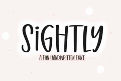 Web Font Sightly - A Quirky Handwritten Font Product Image 1