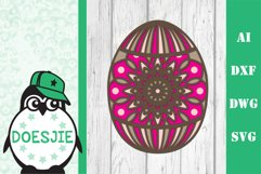 Easter bundle 3d svg dxf layered Multi layer mandala bunny Product Image 9
