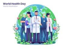 World Health Day concept flat illustration Product Image 1