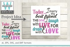 Wedding SVG - Today I Marry My Best Friend Product Image 1