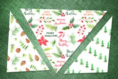 Watercolor 10 Christmas Patterns Product Image 3