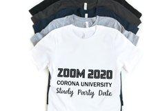 Quarantine svg Zoom 2020 Corona University svg Product Image 1