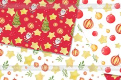 Watercolor gnome christmas seamless patterns Product Image 5