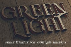 Green Light - Vintage Style Font Product Image 5
