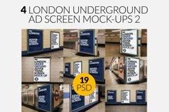 4 London Underground Screen Mock-Ups Bundle 2 / 19 PSD Product Image 1