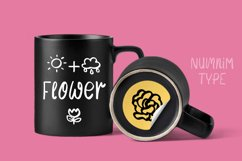 Flower Mom - girl kids font with flower doodle Product Image 4