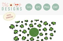 Shamrock 24 oz venti cold wrap, seamless full wrap, SVG Product Image 2