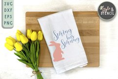 Bunny SVG | Easter | Rabbit Silhouette Product Image 3