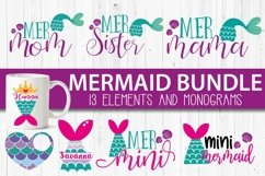 Mermaid bundle svg cut file for crafters Product Image 4