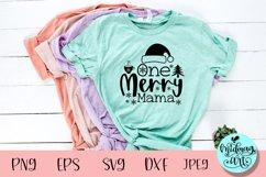 One merry mama svg, christmas svg Product Image 1