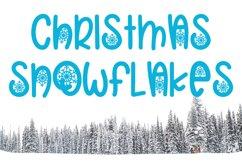 Christmas Snowflakes Font Product Image 1