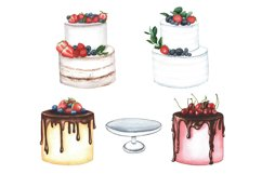 Watercolor cakes set Product Image 2
