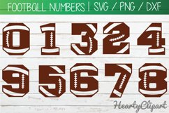 Football svg numbers, football laces svg, cutting files Product Image 1
