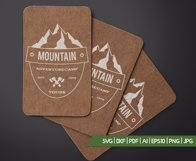 Retro Camping Insignia, Mountain Vector Logo Label SVG File Product Image 4