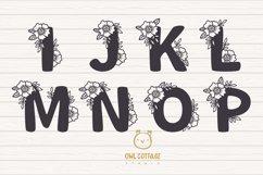 Floral alphabet svg, Floral Monogram letters Bundle, Wedding Product Image 3