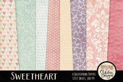 Shabby Damask Sweetheart Background Textures Product Image 1