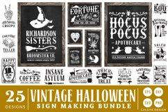 Vintage Halloween Sign Making SVG Bundle Product Image 1