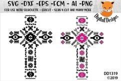 Aztec Christian Cross SVG Product Image 1