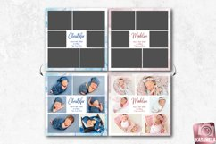 12x12 Newborn Photo Collage Template Product Image 1