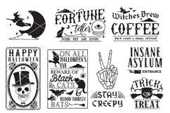 Vintage Halloween Sign Making SVG Bundle Product Image 3