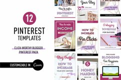 Click-Worthy Blogger Pinterest Pin Pack | Canva Product Image 1