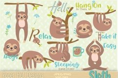 sloth Clipart Product Image 1