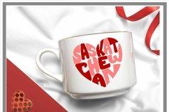 Canadian Province Saskatchewan Heart Shaped Word Art SVG Product Image 2