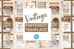 Vintage Pinterest Canva Template Product Image 2