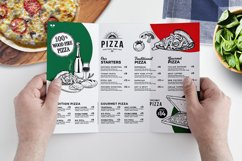 Tri-Fold Pizza Menu Template Product Image 1