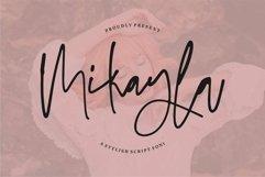 Web Font Mikayla - A Stylish Script Font Product Image 1