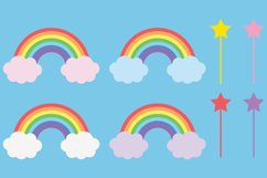 Cute Unicorn Clipart Bundle, Magical Horses, PNG, JPEG, EPS Product Image 6