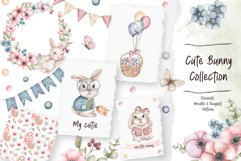 Watercolor Cute Bunny Collection Product Image 1