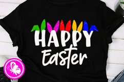 Happy Easter svg Bunny ears clip art Cricut Png Silhouette Product Image 2