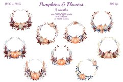 Pumpkins and Flowers Product Image 3